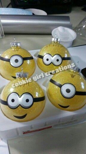 Minion inspired ornaments