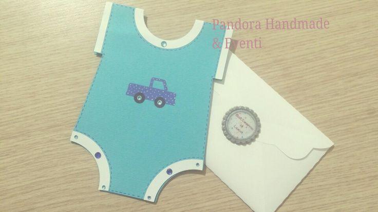 Invito maschietti per Battesimo, Baby shower,  compleanno. By Pandora Handmade & Eventi