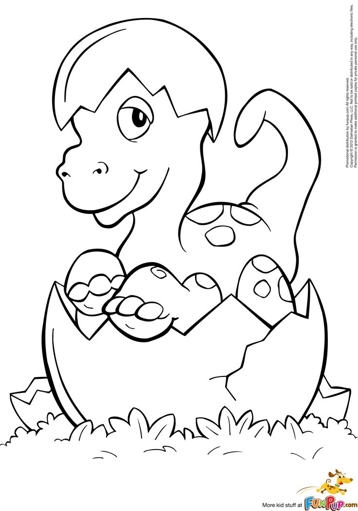 cute baby dinosaur coloring pages - photo#22