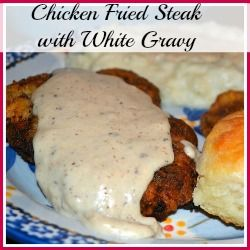 Southern Chicken Fried Steak with White Gravy - Mrs Happy Homemaker