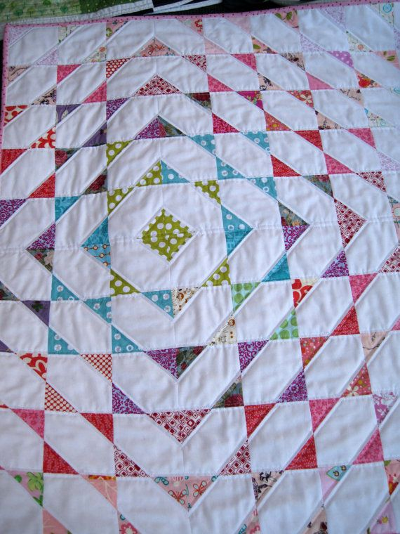 Disappearing Scraps Quilt Pattern. $6.50, via Etsy.