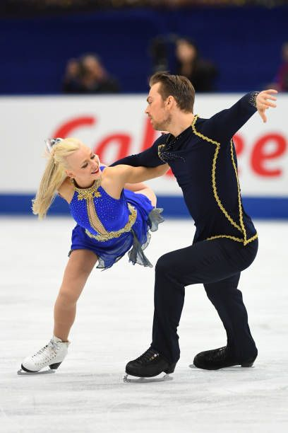 Penny Coomes and Nicholas Buckland of Great Britain compete in the Ice dace free dance during the ISU Grand Prix of Figure Skating at Osaka municipal...