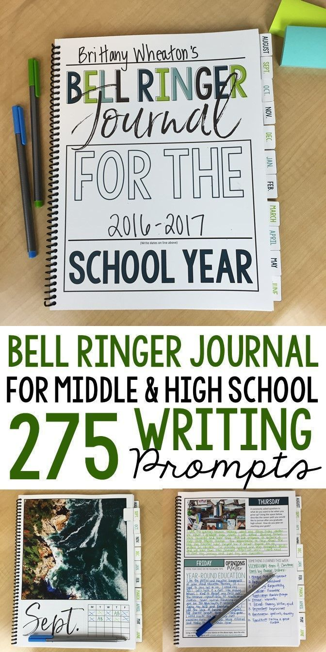 Bell Ringer Journal for the Total Faculty Yr: 275 Journal Prompts EDITABLE
