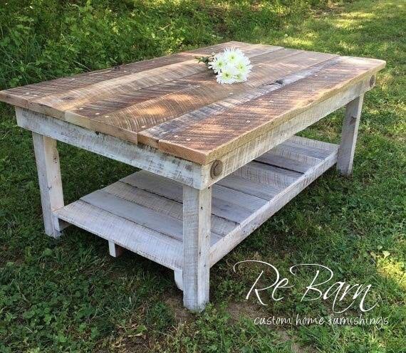 Rustic Barnwood Kristine Coffee Table by ReBarnCHF on Etsy