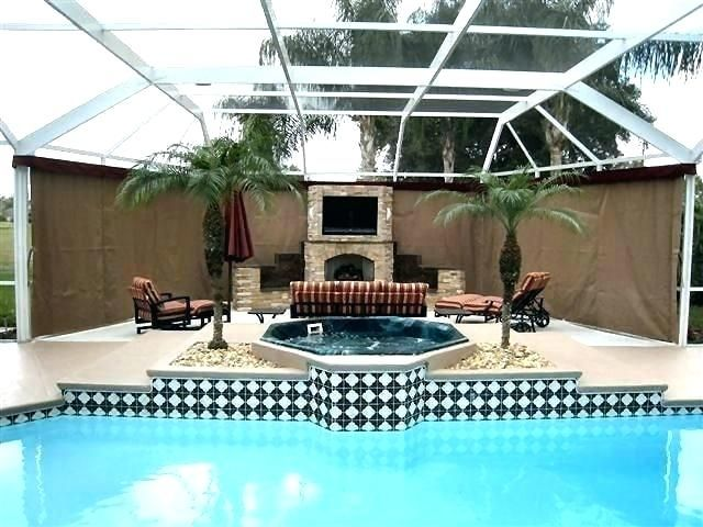 Privacy Screen For Pool Enclosure Outdoor Curtains For Patio Outdoor Patio Designs Patio Deck Designs