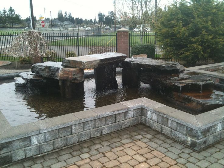 Above ground pond love this pinterest gardens for Cinder block pond