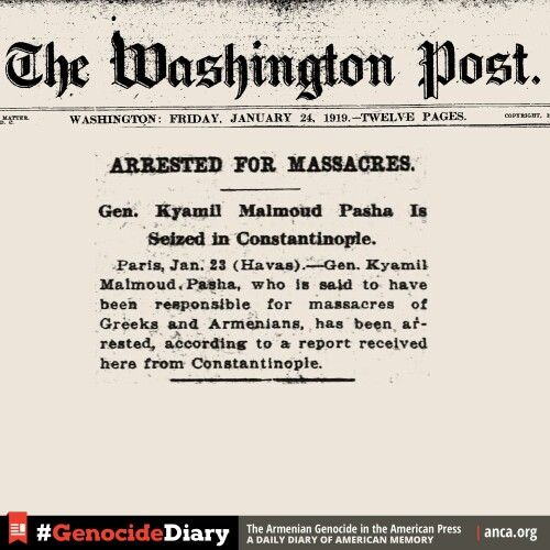 Turkish General Pasha arrested for massacres....