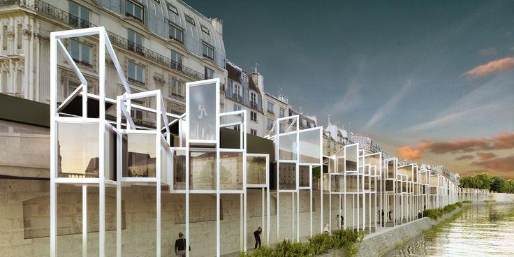 Galería - MenoMenoPiu propone hotel cápsula para turistas en París - 3