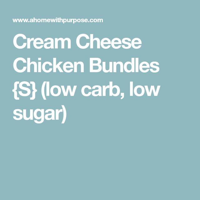 Cream Cheese Chicken Bundles {S} (low carb, low sugar)