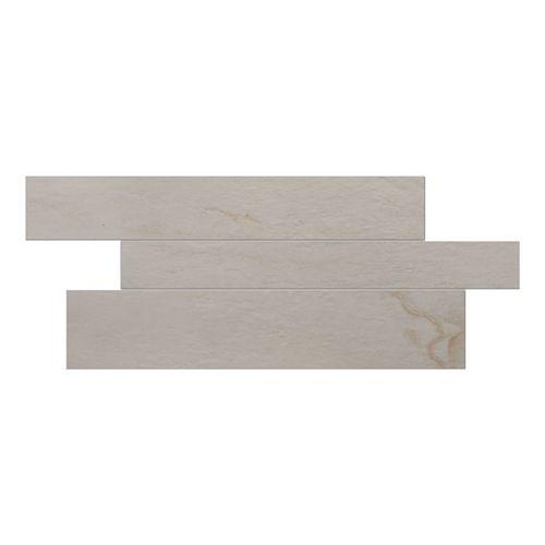 Vitra Rainforest White Matt Cut Mosaic Decor - 600x300x9mm - Bathroom Wall Tiles | Décor Tiles | Gemini Tiles