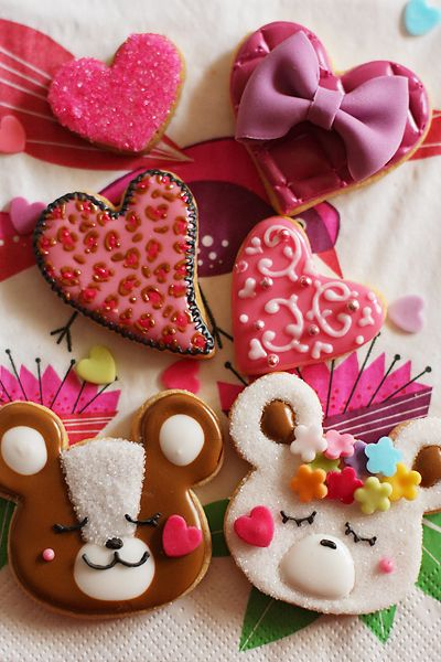 valentine's day cookies for kids I doubt I'd ever have the patience or steadiness for these