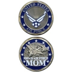 Proud Air Force Mom Challenge Coin