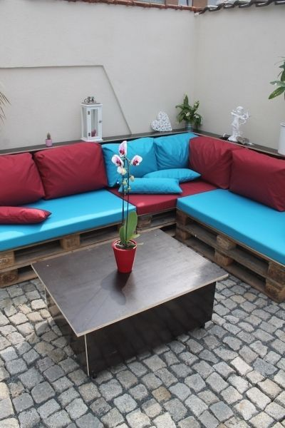 details zu kissen polster f r palettenm bel im. Black Bedroom Furniture Sets. Home Design Ideas