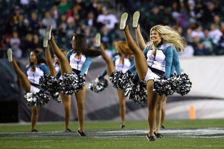 Philadelphia Eagles cheerleaders perform before an NFL football game against the Chicago Bears, Sunday, Dec. 22, 2013, in Philadelphia.