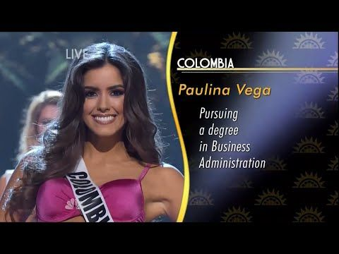 Paulina Vega, Miss Universe 2014-2015 HD - YouTube