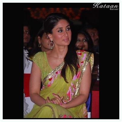 #Kareen Kapoor looking beautiful in the GREEN saree