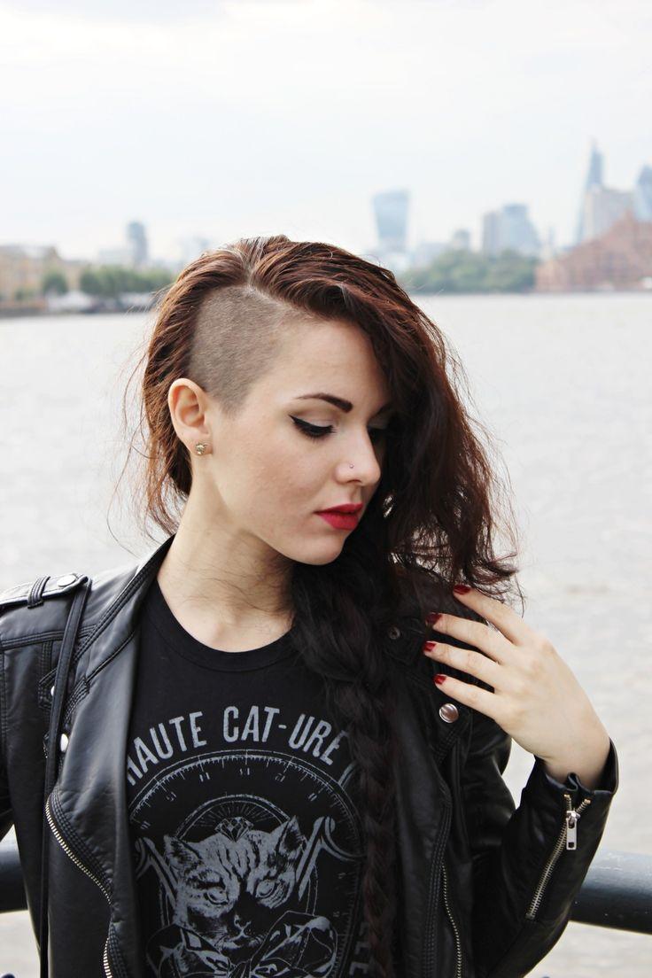 Amazing 1000 Ideas About Long Shaved Hairstyles On Pinterest Half Short Hairstyles Gunalazisus