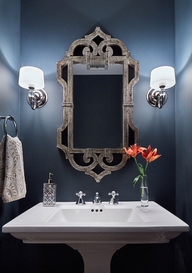 25 Best Ideas About Blue Powder Rooms On Pinterest