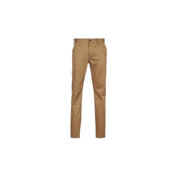 G-Star Raw BRONSON SLIM CHINO Trousers (£88) ❤ liked on Polyvore featuring men's fashion, men's clothing, men's pants, men's casual pants, brown, brown mens pants, mens slim pants, mens slim fit chino pants, mens chino pants and mens slim fit pants