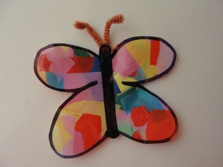 Stained glass butterfly window decorations made out of for Butterfly stained glass craft