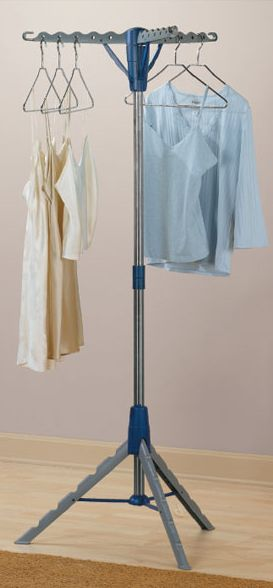 Tripod Clothes Drying Rack // Clever Space Saving Design #product_design  #organization