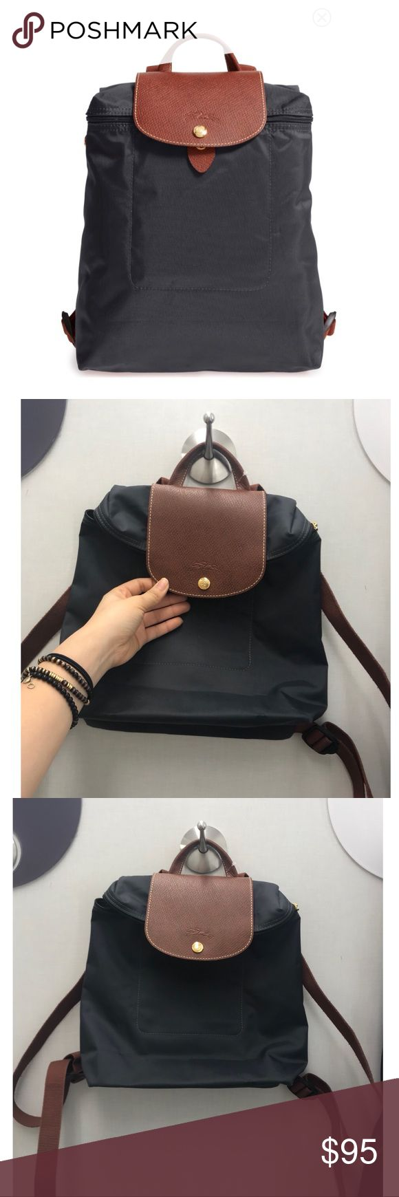 """Long champ backpack gray Gray. Never worn. Given to me as a gift. From Nordstrom rack, the price tag says """"altered or refinished"""" but could not find anything different from the stock images or measurements. Longchamp Bags Backpacks"""