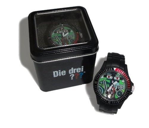 Die drei ??? Armbanduhr. Cooles Drei Fragezeichen Geschenk für den nächsten Kindergeburtstag etc.