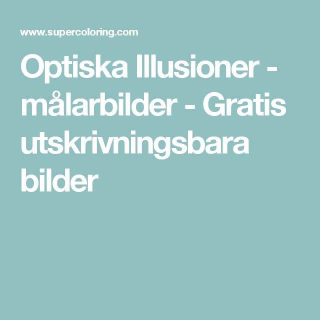 Optiska Illusioner - målarbilder - Gratis utskrivningsbara bilder
