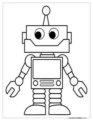 Pin Von D Oesten Auf Zeichnen Roboter Kinder Malvorlagen