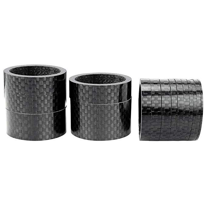 2//3//... Sumind 9 Pieces Bike Bicycle Carbon Fiber Headset Spacer Kit 1-1//8 Inch