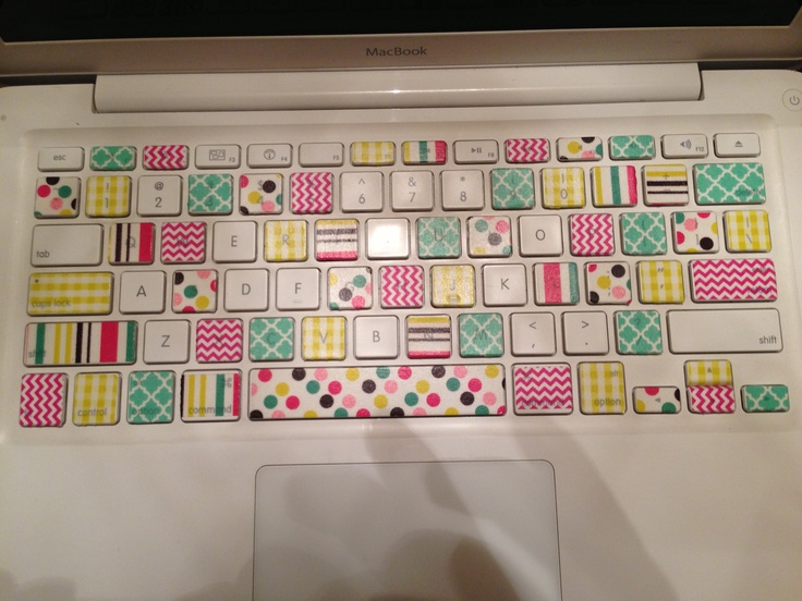 Washi tape project laptop keyboard my projects for Washi tape project ideas