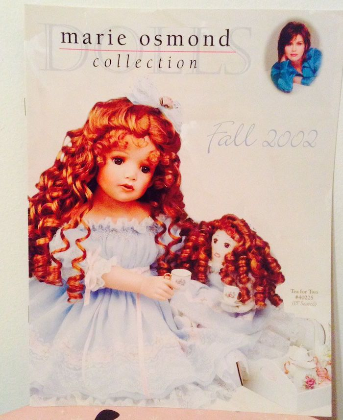MARIE OSMOND Doll Collection Catalog Fall 2002—More Marie Catalogs Avail too! #MarieOsmond #Catalog