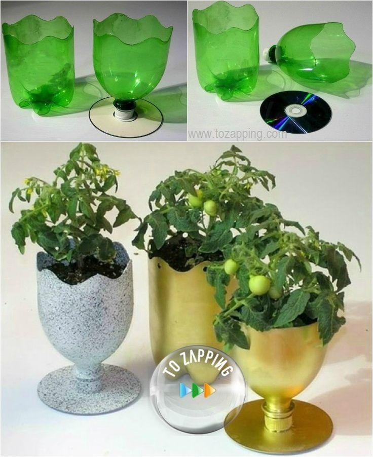 Las 25 mejores ideas sobre artesan as de botella de pl stico en pinterest y m s artesan as con - Objetos reciclados para el hogar ...