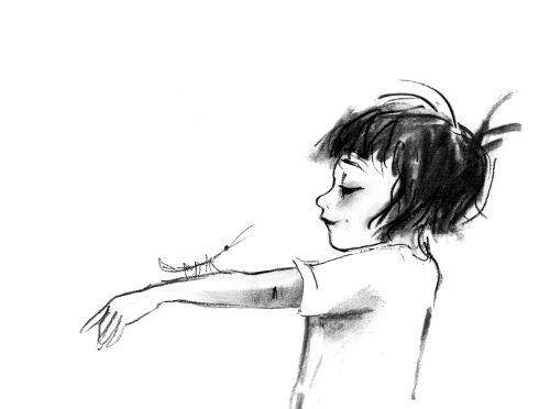 Ann James illustration from Sadie and Ratz (written by Sonya Hartnett)