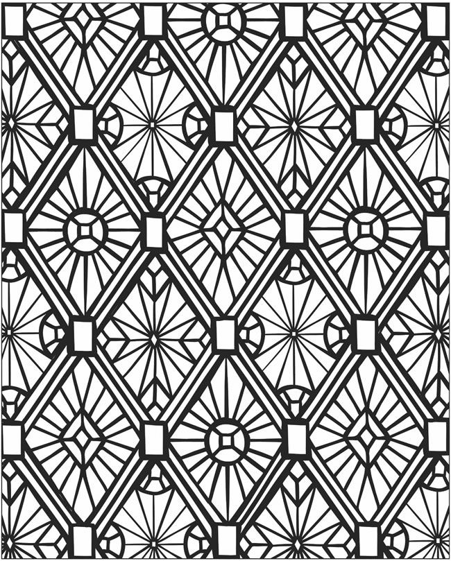 3d mosaic coloring page #free #printable #diy #craft ...