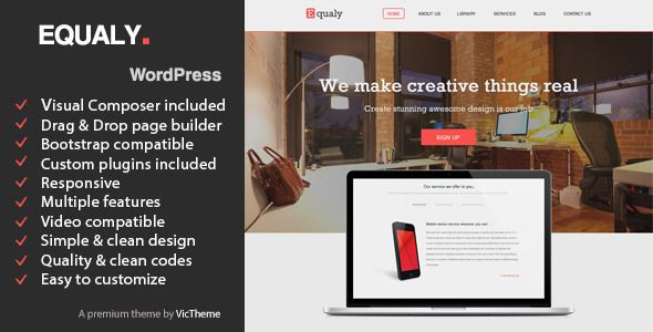 EQUALY - Professional Business WordPress Theme Keep it Clean and Simple