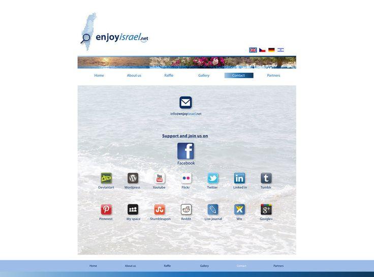 Social media-contact page: enjoyisrael.net http://enjoyisrael.deviantart.com/art/Social-media-contact-page-enjoyisrael-net-631062865