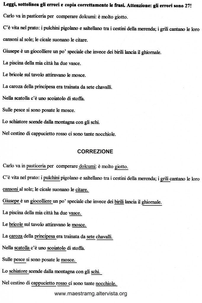 Seconda Classe Lingua Italiana Grammatica Pinterest School