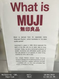 What is MUJI   .MUJI-retail-store Melbourne Retail