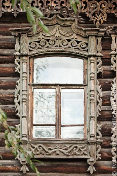 Russian Woodwork / Томск, деревянный оконный наличник №7