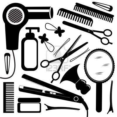 Hairdressing equipment Stock Photo