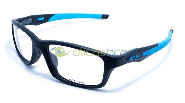 A armação Oakley Crosslink OX8030 tem desenho esportivo e é acompanhada por hastes extras de cores diferentes, para que você possa mudar seu visual sem precisar mudar de óculos.  http://www.oticasbrasil.com.br/oakley-crosslink-ox-8030-0155-oculos-de-grau
