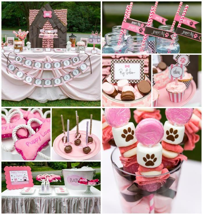 Pink Puppy Party Full of Darling Ideas Ideas via Kara's Party Ideas   KarasPartyIdeas.com