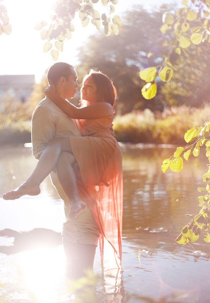 Romantic Lakeside Engagement Session, Captured by Allison Kortokrax of Korto Photography