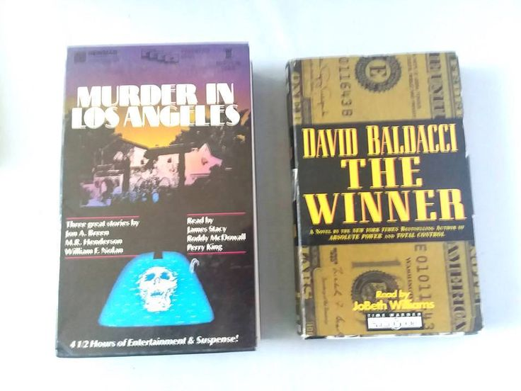 Books On Tape Mystery Suspense Thriller 2 Book Sets 4 Stories 10 Hr Total Time