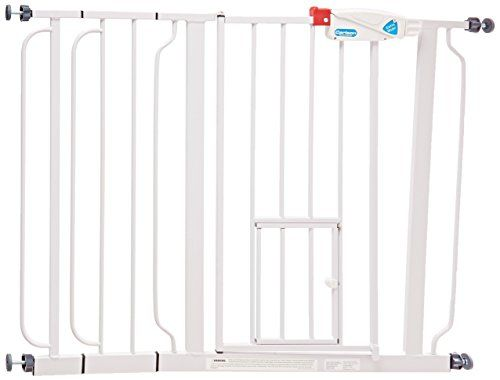 Carlson Extra Wide Walk Through Gate with Pet Door, 29 to 44-Inch - http://www.lovemypet.club/carlson-extra-wide-walk-through-gate-with-pet-door-29-to-44-inch/