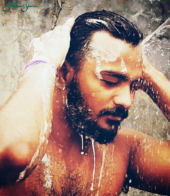 Image result for indian man head bath