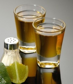Fake Food Tequila Shots Gold Set of 2