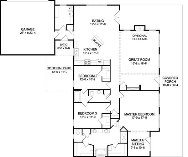 112 best images about one story house plans on pinterest for Southfork ranch house floor plan