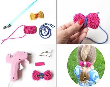 Como hacer lazos para el cabello a crochet